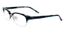 Silver Dollar Cafe Lunettes eyeglasses Cafe 3194 in Teal Marble Size 52/18/135