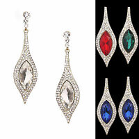Waterdrop Dazzling Long Rhinestone Bridal Cocktail Party Earring