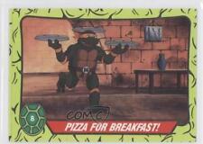 1990 Topps Teenage Mutant Hero Turtles Ireland #8 Pizza For Breakfast! Card 0b5