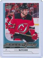 17/18 UPPER DECK YOUNG GUNS ROOKIE RC #248 WILL BUTCHER DEVILS *45173