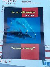 RARE 1959 U.S. Divers Co. Aqua Lung Catalog Vintage Scuba & Snorkeling Equipment