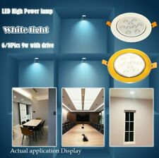 8pcs/lot Downlight LED Ceiling Light Recessed Lamp Spotlight 9W sent from CA