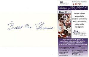 Bullet Bill Osmanski Signed Auto Autograph 3x5 Index Card RARE Future HOF JSA
