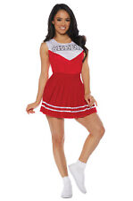 Cheerleader Cheer Adult Costume (Red)