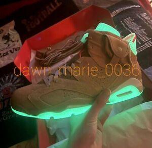 Nike Air JORDAN 6 Retro X Travis Scott BRITISH KHAKI Sz 11 DH0690-200 Olive BNIB