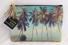 POUCH BAG W/ TASSEL, 5x7, RETRO BEACH - Palm Trees, Beach