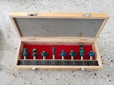 "Woodline USA 8 Piece 1/2"" Shank Picture Frame Router Bit Set"