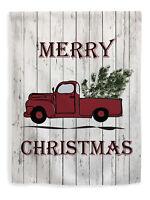Holiday Flag Merry Christmas Flag Classic Truck /& Christmas Tree House Flag
