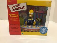 """2002 HASBRO """"THE SIMPSONS"""" WHAT WOULD HOMER DO ELECTRONIC TRIVIA GAME"""