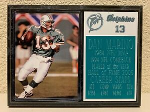Dan Marino 6x8 Miami Dolphins Plaque