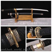 Hand Forge Japanese Ninja Sect Shrine Samurai Sword Katana Pattern Steel Sharp