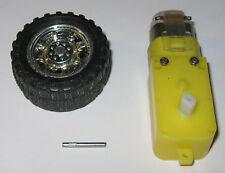 Motorized Toy 3 V DC Motor + Gearhead + Wheel Combo - 200 RPM - 42mm Dia Wheel
