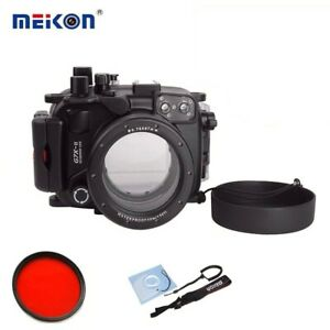 Meikon 40M/130ft Waterproof Underwater Camera Housing Case for Canon G7X Mark II