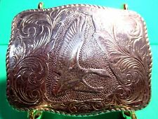 EDDIE BAUER ~SOLID STERLING SILVER~ Rare Santa Ana Belt Buckle MAKE OFFER