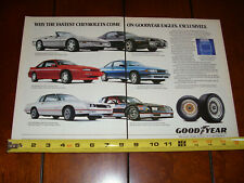 1988 MONTE CARLO SS - Z24 - CORVETTE GOODYEAR ORIGINAL 2 PAGE AD