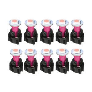 10x T5 5050 SMD Purple Instrument Cluster Panel Gauge Dash LED Bulbs Light