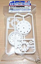 Tamiya 56543 Semi Wide Wheels (30mm Width / Hex Hub) White (Trailers), NIP