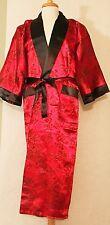 Men's Reversible Dragon Kimono Gown Robe Double-sided with  Dragon Print