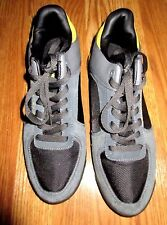 MEN'S SEAN JOHN GRAY,BLACK AND YELLOW SNEAKERS SIZE 10 GREAT CONDITION*