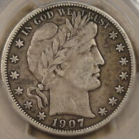 1907 Barber Half Dollar 50c PCGS Certified VF20