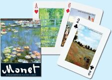 Monet 54 Masterpieces Deck of Playing Cards Each Card Different by PIatnik