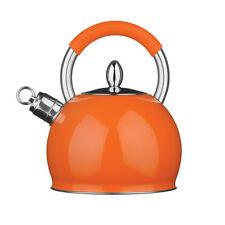 Whistling Kettle Stainless Steel Orange 3 Litre Attractive Design Brand New