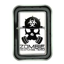 Windproof Refillable Oil Lighter with Gift Box Zombie Design-006