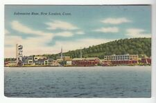 [51727] OLD POSTCARD SUBMARINE BASE IN NEW LONDON, CONNECTICUT