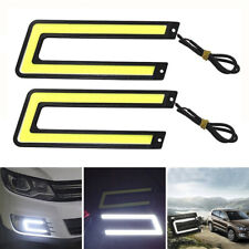1PC U-Shaped 12V LED COB Car Auto DRL Driving Daytime Running Lamp Fog Light TSK
