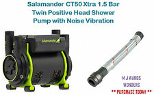 Salamander CT50 Xtra 1.5 Bar Twin Positive Head Shower Pump with Noise Vibration