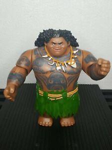 "Disney Moana 10.5"" Talking Maui Action Figure *WORKS* Doll Hasbro 2015 The Rock"