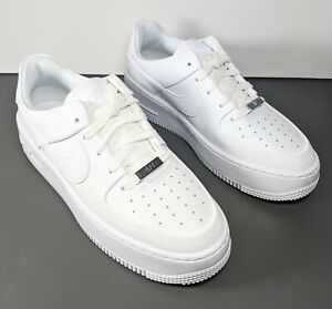 Nike Air Force 1 Sage Low Sneakers Shoes Triple White Womens Size 7.5 AR5339 100