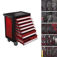 Werkzeugwagen mit 7 Schubladen inkl. 5 mit Werkzeug CRV Werkstattwagen gefüllt