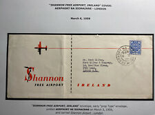 1959 Shannon Free Airport Ireland Airmail Cover To London England