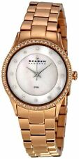 Skagen Women's 347SRXR Denmark White Mother-Of-Pearl Dial Watch USA SELLER