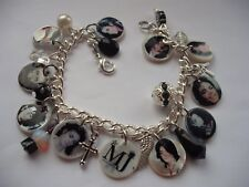 Michael Jackson Memorial MJ new Photo charm bracelet. special memory gift Xmas