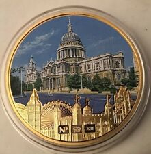 """Numisproof 2012 Gold Plated St Paul's Cathedral Medal """"British Iconic Buildings"""""""