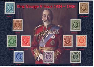 GB KGV 1934 - 36 KING GEORGE V BEAUTIFULLY DISPLAYED MINT SET OF 11