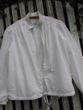 Vintage Clique white lightweight jacket zipper high collar pleated shoulders