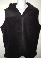 Vest Cabela's 2XL Polar Fleece Snake River Black Solid Zip Up Mens Sleeveless