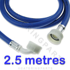 "3/4"" BSP 2.5 METRE LONG 2500mm BLUE WASHING MACHINE WATER SUPPLY FILL HOSE 2.5m"