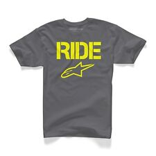 Camiseta T-Shirt Alpinestars Ride Sólido T Carbón Color: Gris talla: 05=S