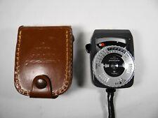 Vintage Gossen Super Pilot CdS Light Meter With Leather Case