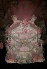 Pink Christmas Village Victorian Village Pink Shabby Chic Roses Pearls Pink Chic