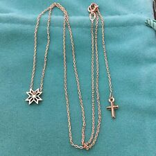 2,25 grams NEW 14k 14ct solid red Russian gold 585 Necklace STAR Cross love