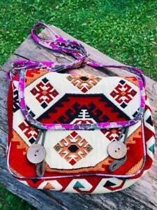 Traditional Turkish Anatolian Kilim Style Women Bag Satchel Hippie Bohemian Gift