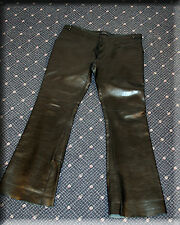 Mens Gucci Black Lambskin Leather Pants Size Medium 34