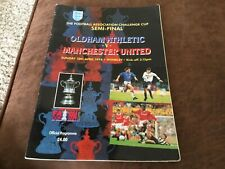 Oldham Athletic v Manchester United FA cup s/f programme 10/4/94