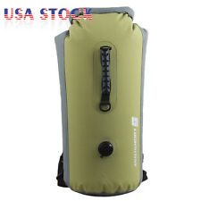 60L Military Waterproof Floating Dry Bag Backpack Drift Canoe Kayak Fishing USA