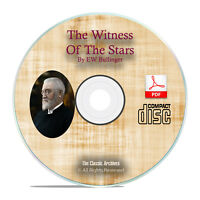 Witness of the Stars, EW Bullinger Bible Commentary Scripture Study PDF CD H13